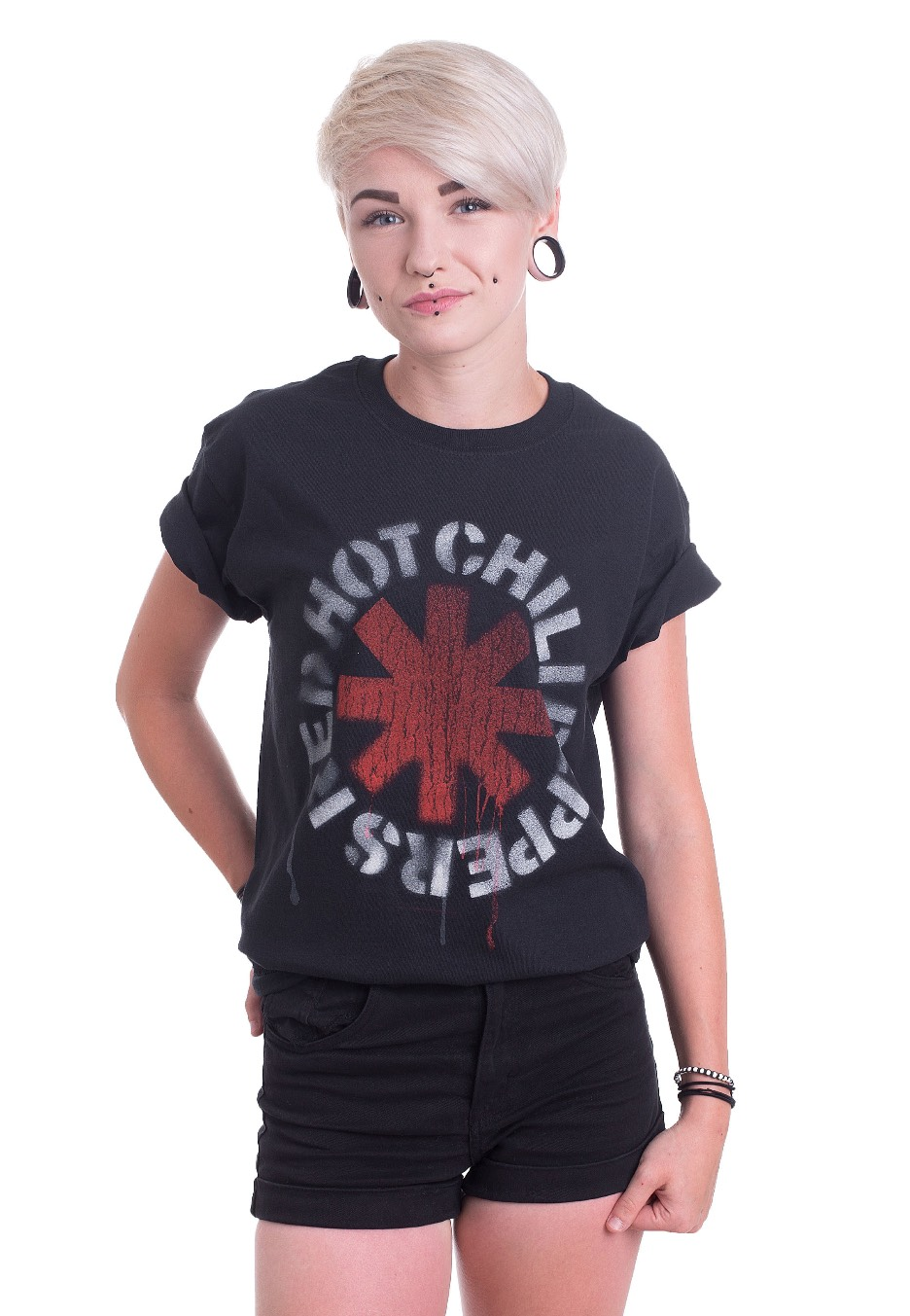 c396862f31ff Red Hot Chili Peppers - Stencil - T-Shirt - Official Pop Merchandise Shop -  Impericon.com AU