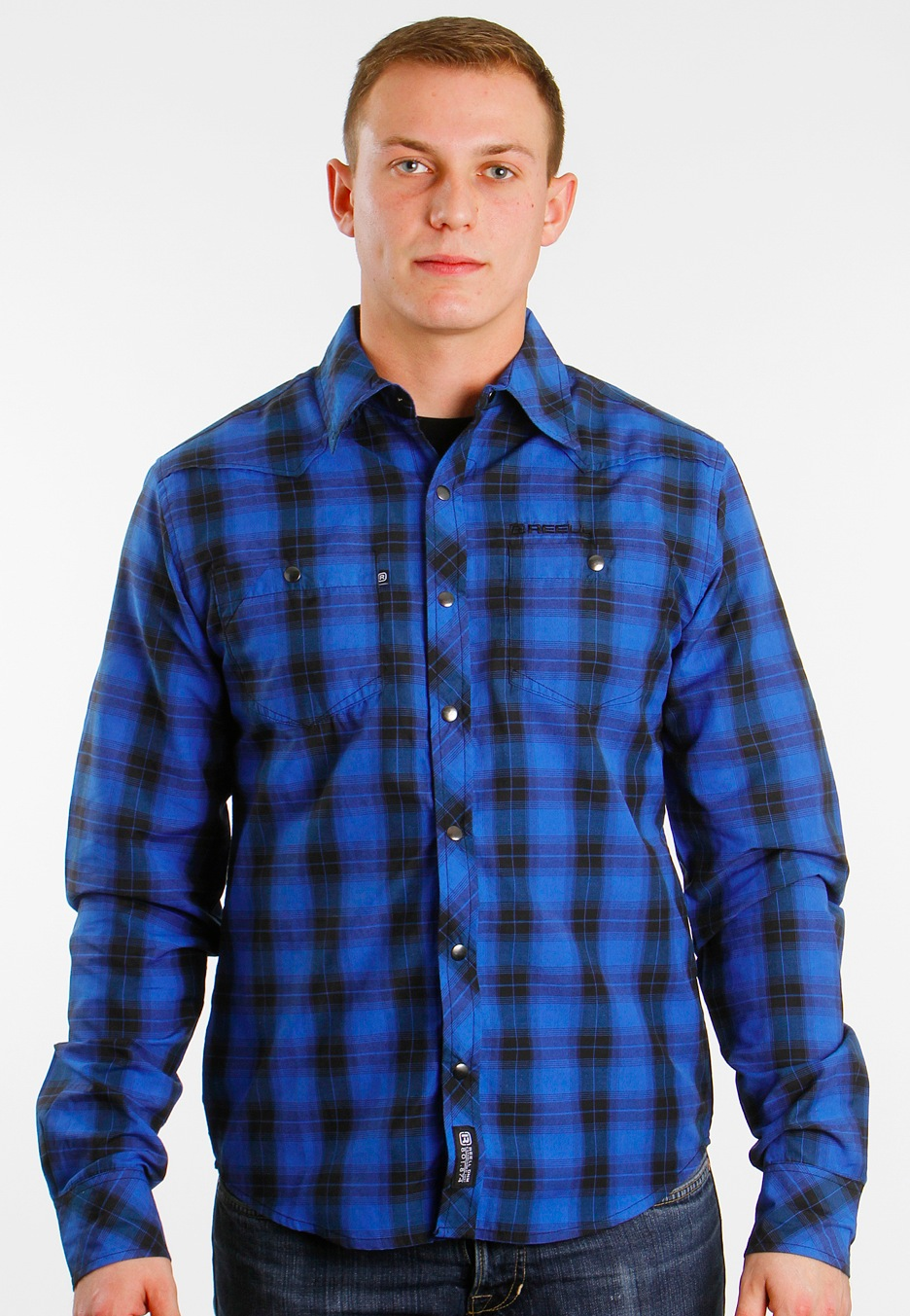 REELL - Natural 2 Blue/Black Check - Shirt - Impericon.com Worldwide