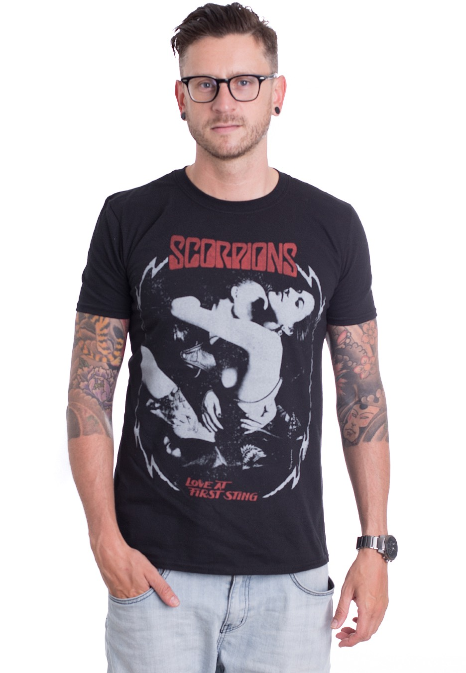 Scorpions T Shirt Love Drive Album Cover Band Logo Official Mens New Black