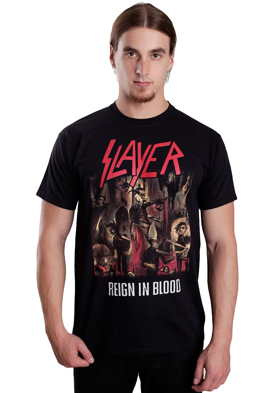 Slayer Reign In Blood  T-Shirt charcoal