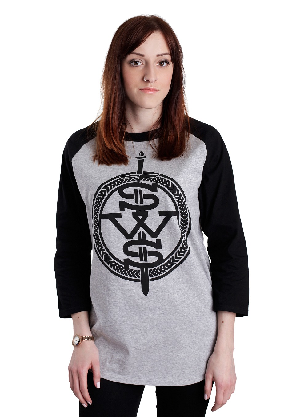 Sleeping With Sirens Symbol Greyblack Longsleeve Official
