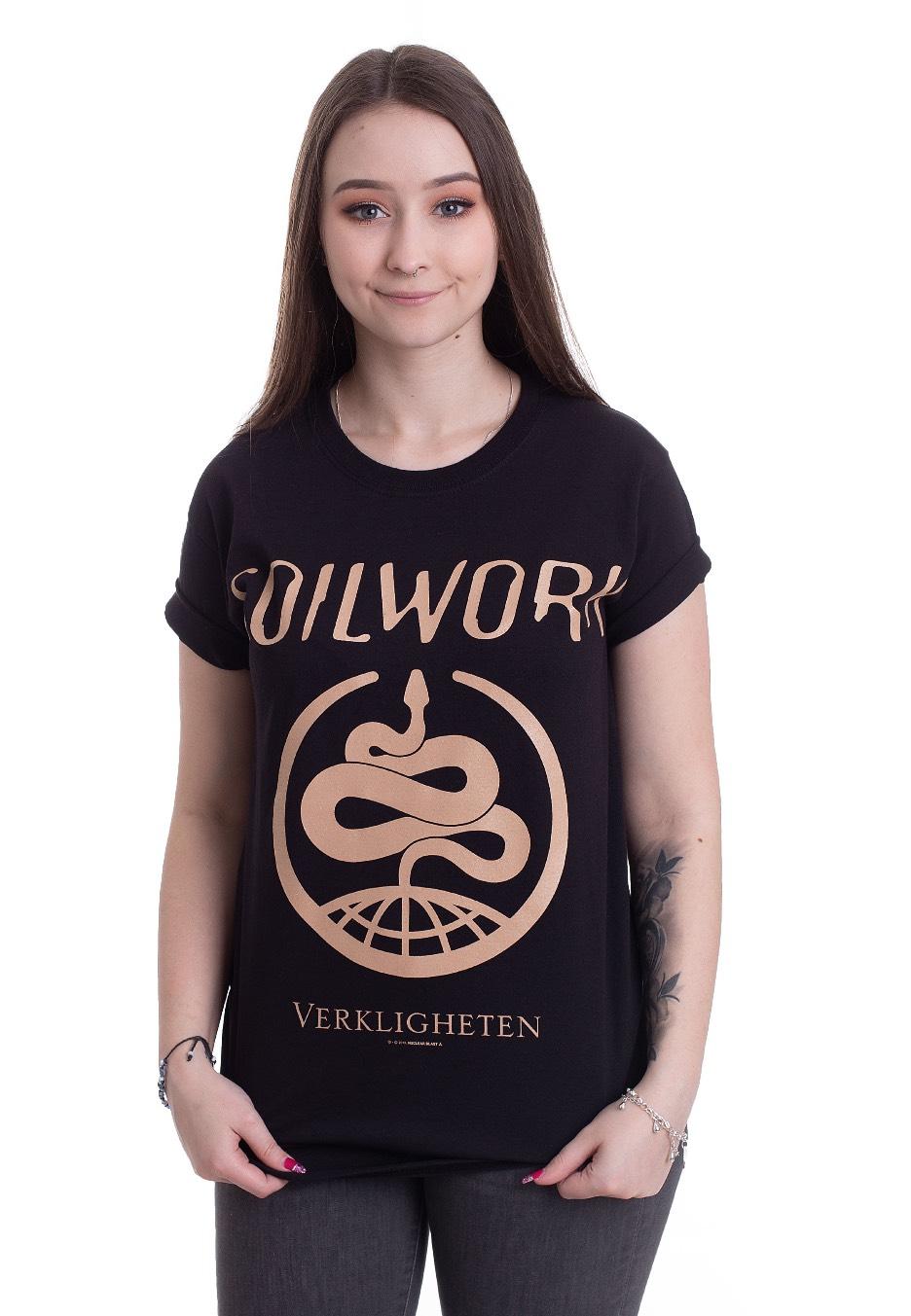Soilwork Verkligheten Homme T-Shirt Manches Courtes Noir Regular//Coupe Standard