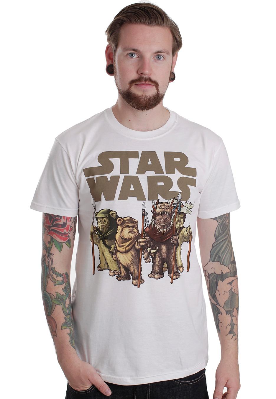 star wars ewoks white t shirt official merchandise shop worldwide. Black Bedroom Furniture Sets. Home Design Ideas
