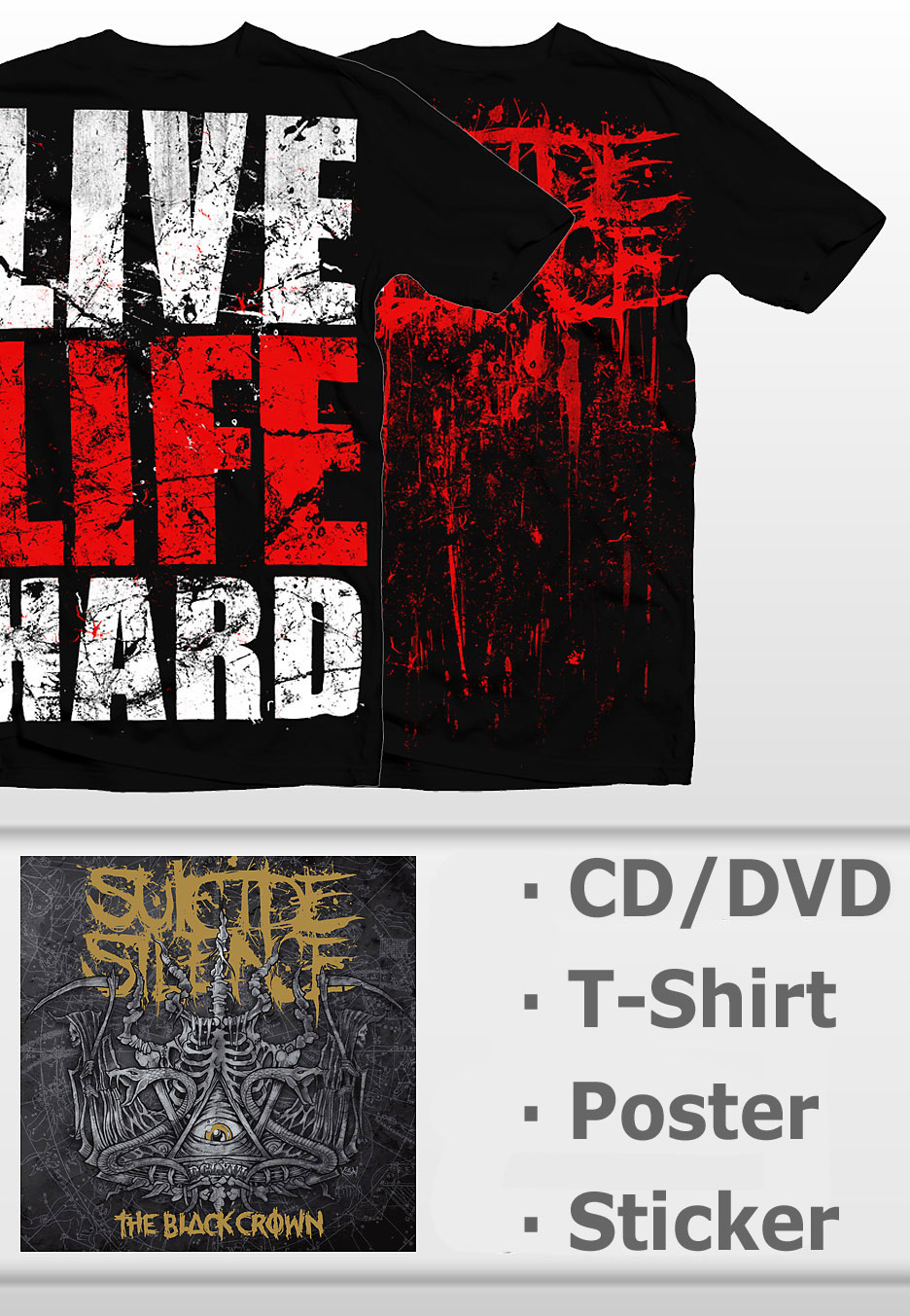 9c45e5eaa Suicide Silence - Black Crown   Live Hard - Special Pack - CDs ...