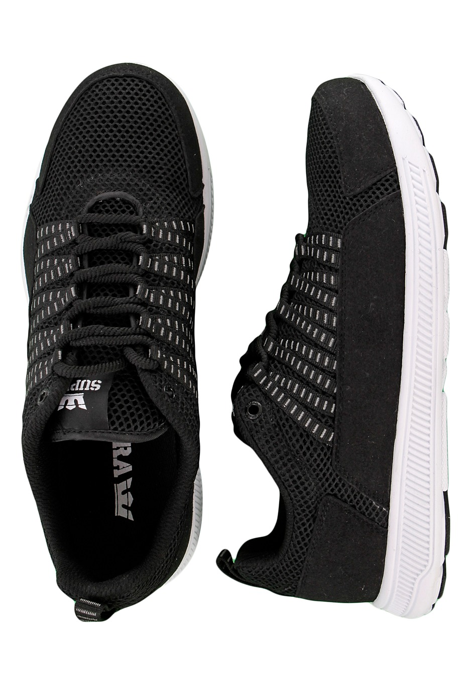 Supra - Owen Black Mesh Microfiber White - Shoes - Impericon.com Worldwide 668b43dbf674