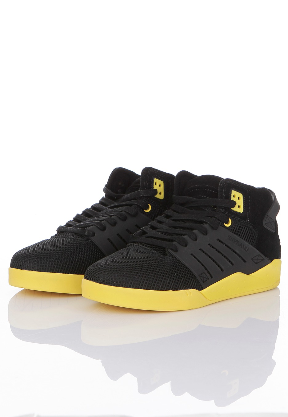 Supra - Skytop III Mid Black Mesh/Neon Yellow - Shoes ...
