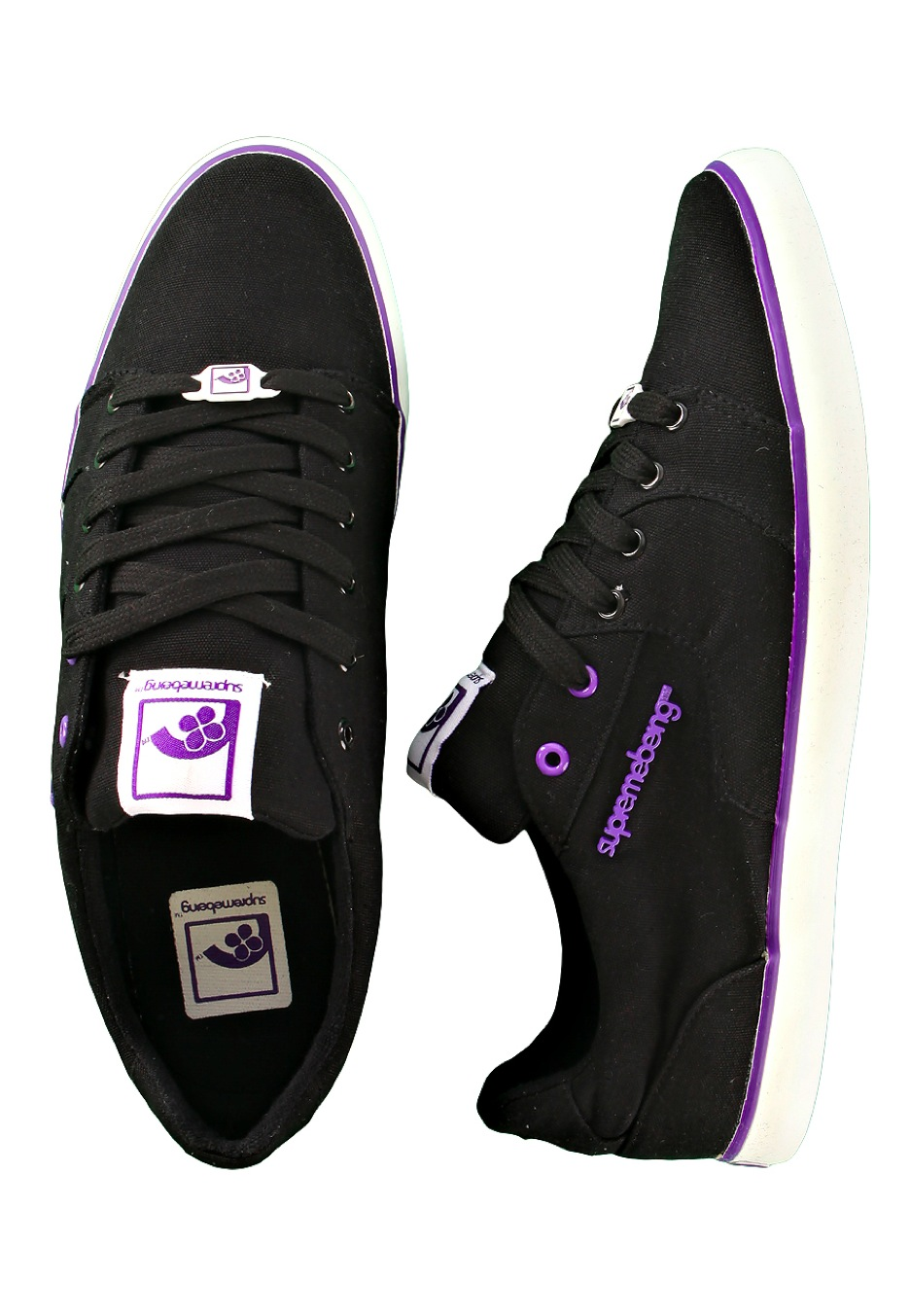 Supremebeing , Slab Canvas Black/Purple , Shoes