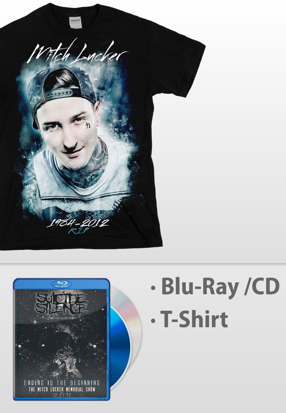 473eebee8 ... Ending Is The Beginning The Mitch Lucker Memorial Show Blu Ray CD -  Special Pack - CDs