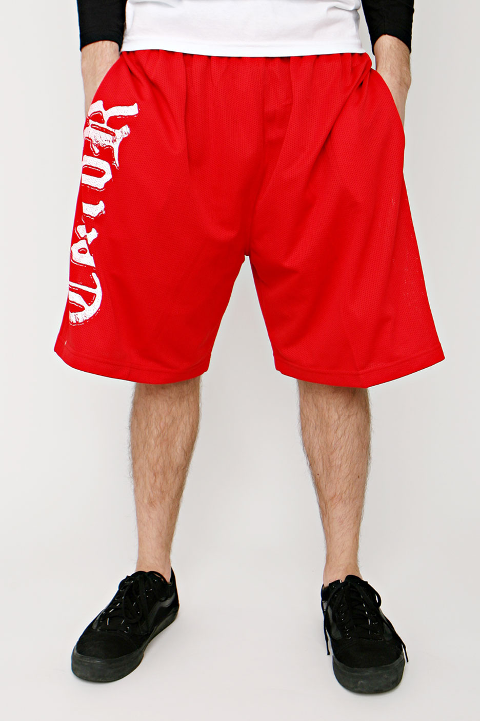 Terror - White Logo Red - Shorts - Impericon.com Worldwide