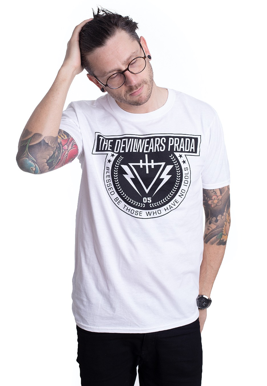 the devil wears prada no idols white t shirt impericon com us the devil wears prada no idols white t shirt