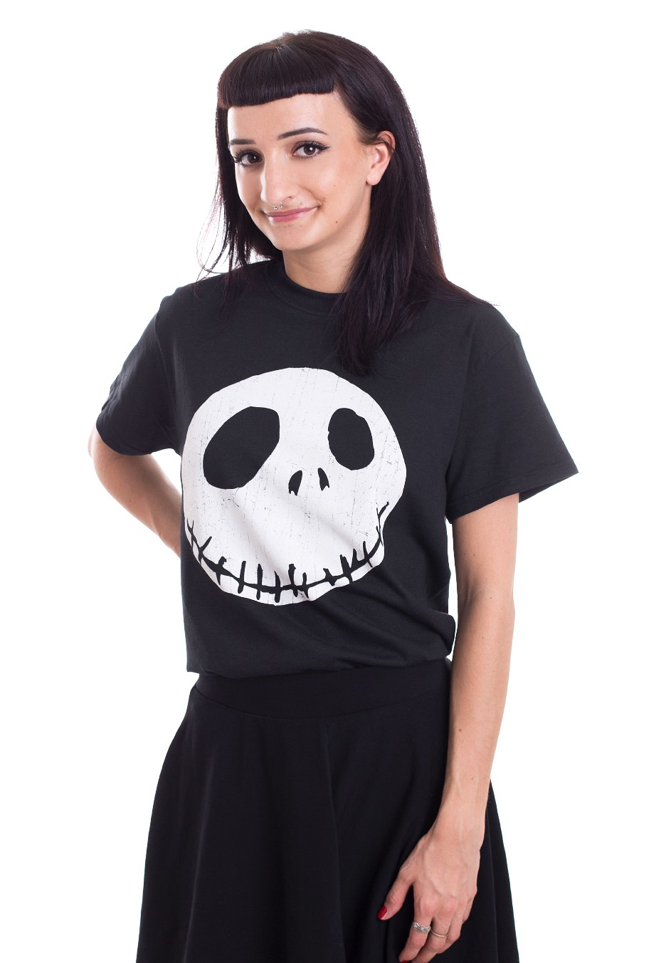 the nightmare before christmas cracked face t shirt