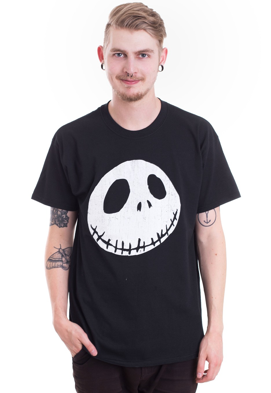 The Nightmare Before Christmas - Cracked Face - T-Shirt - Impericon ...