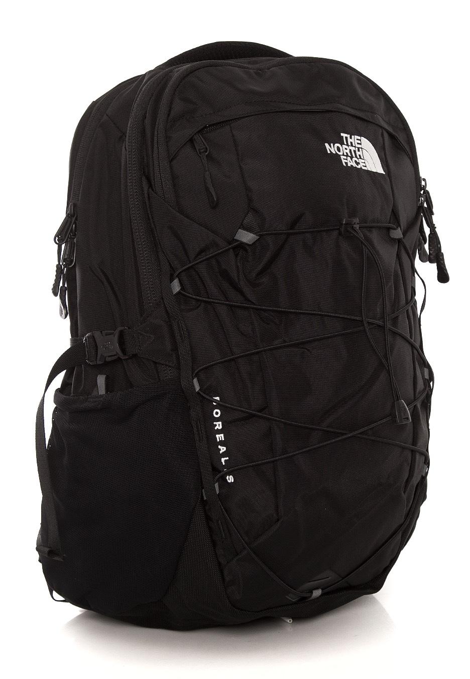tnf black backpack