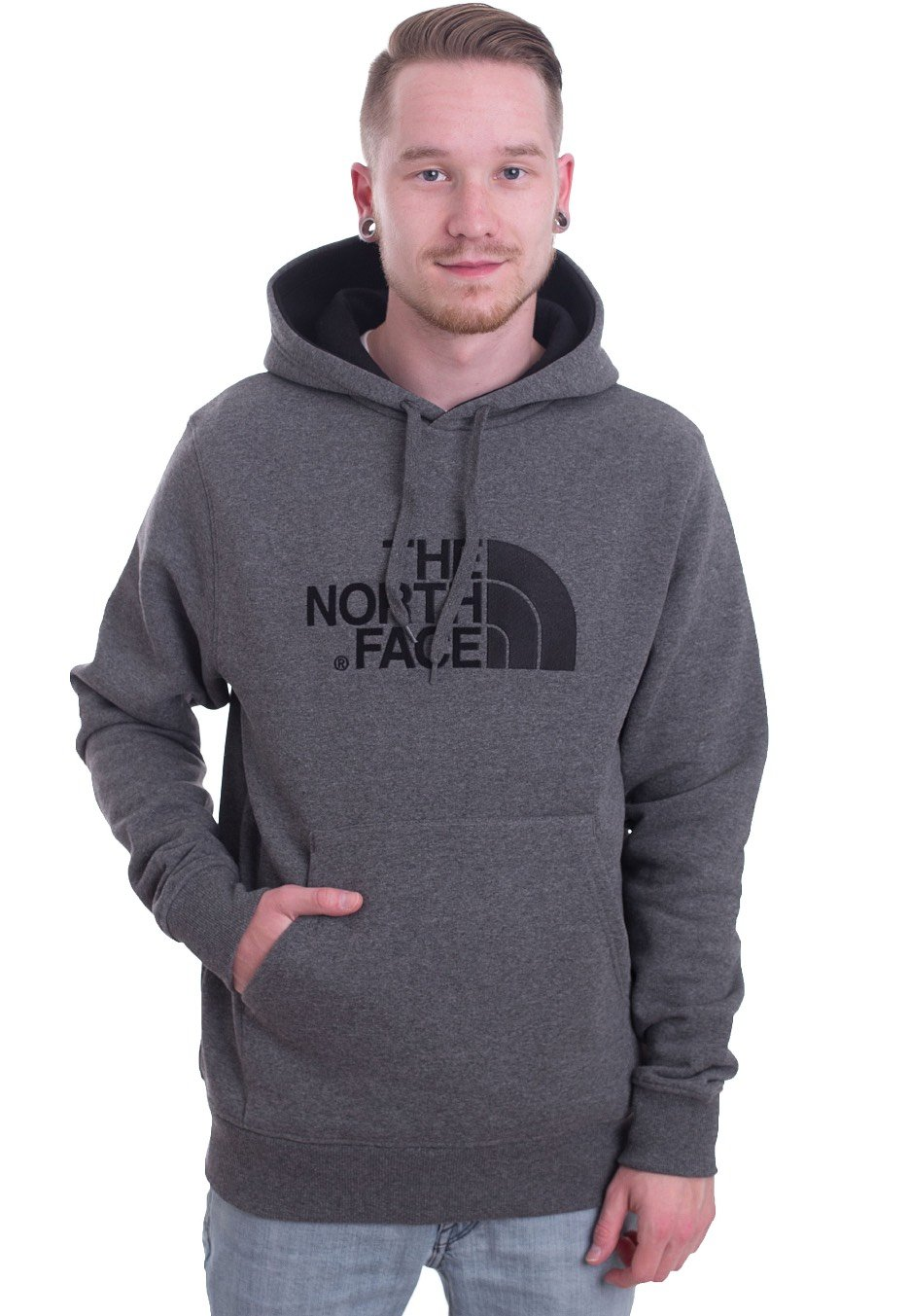 504c725a The North Face - Drew Peak TNF Medium Grey Heather/Black - Hoodie -  Streetwear Shop - Impericon.com UK