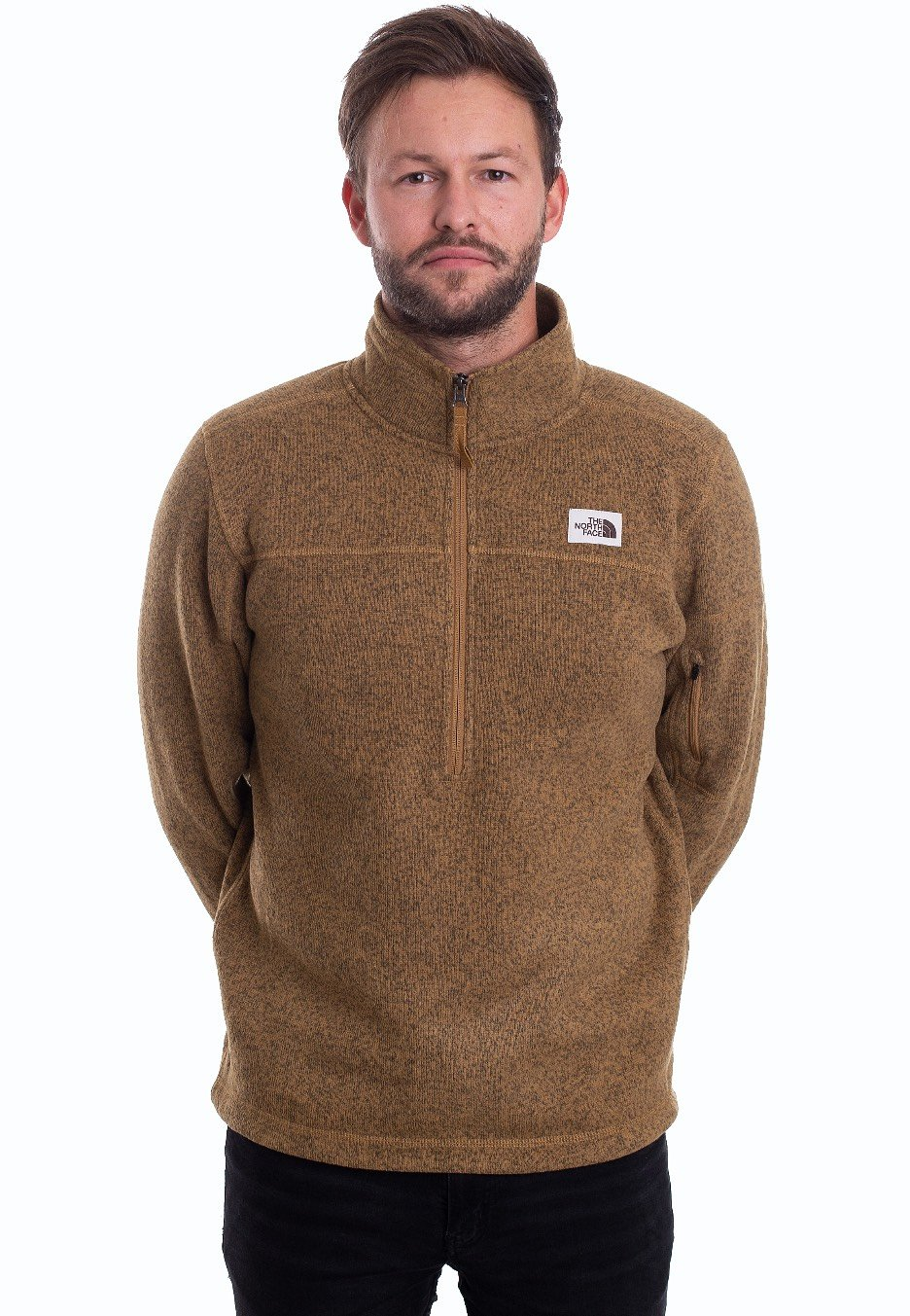 size 40 best selling authentic quality The North Face - Gordon Lyons 1/4 Zip British Khaki Heather - Pullover