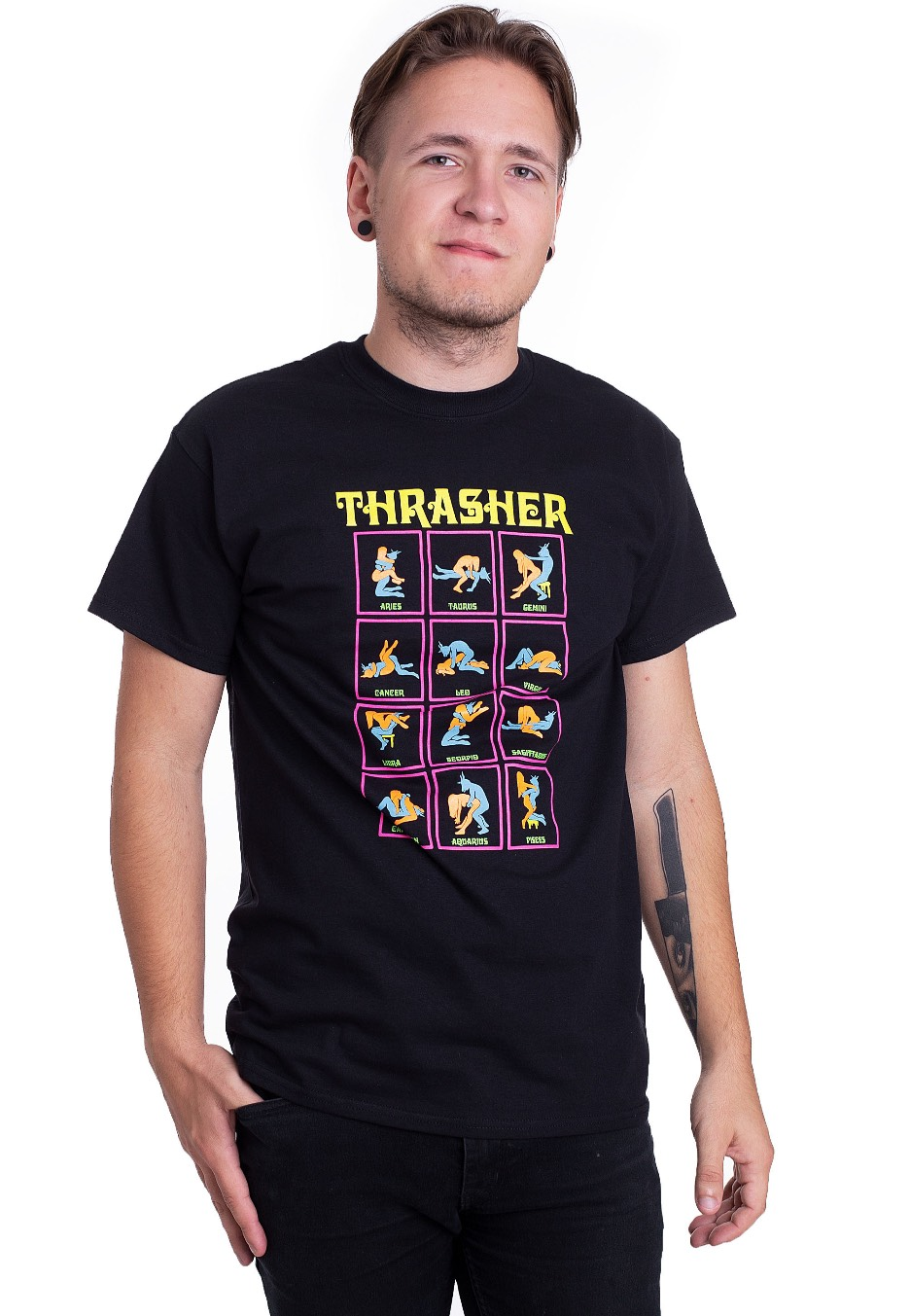 380900926676 Thrasher - Black Light Black - T-Shirt - Streetwear Shop - Impericon.com AU