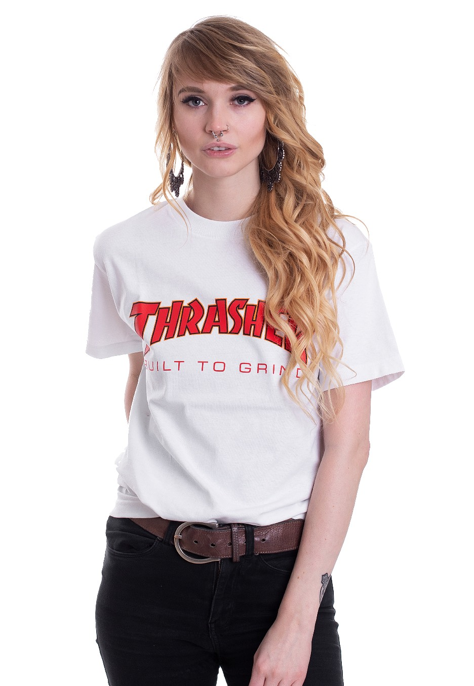 730829a020a6 Thrasher x Independent - Thrasher BTG White - T-Shirt - Streetwear Shop -  Impericon.com UK