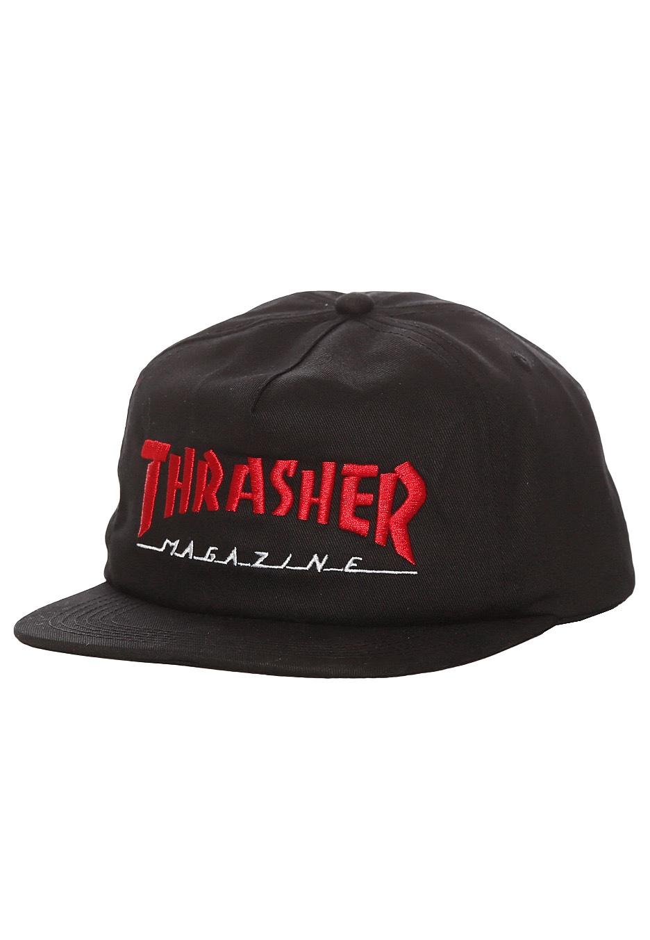 01cd3f738c0 Thrasher - Magazine Logo Two-Tone Black Red - Cap - Streetwear Shop -  Impericon.com UK