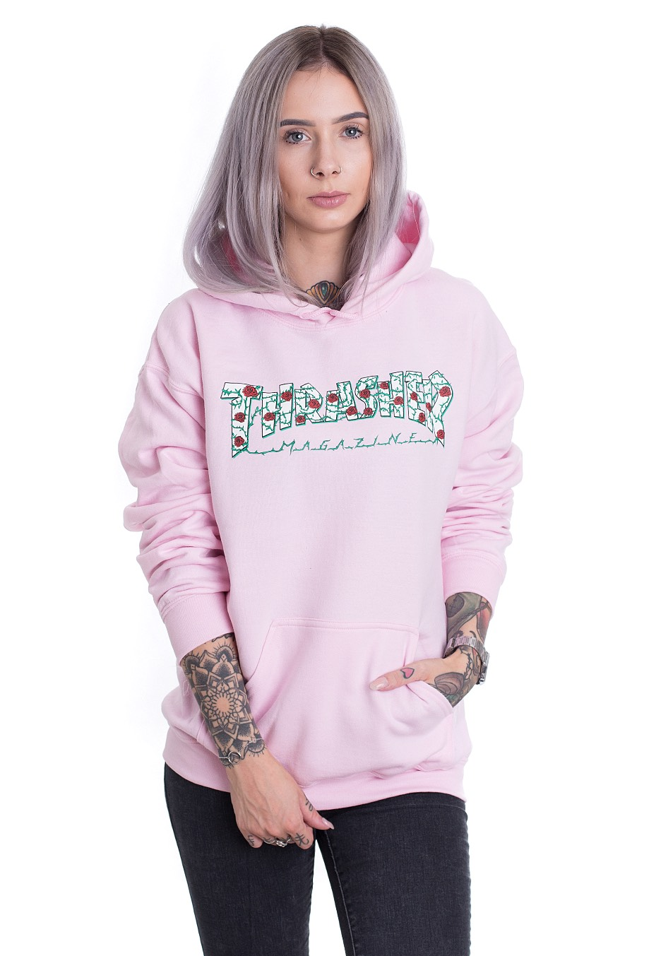 dc751c6a88095d Thrasher - Roses Light Pink - Hoodie - Streetwear Shop - Impericon.com UK