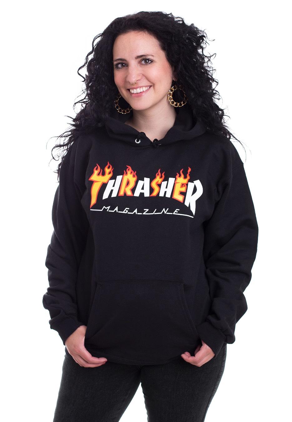Thrasher - Thrasher Flame Mag Black - Hoodies
