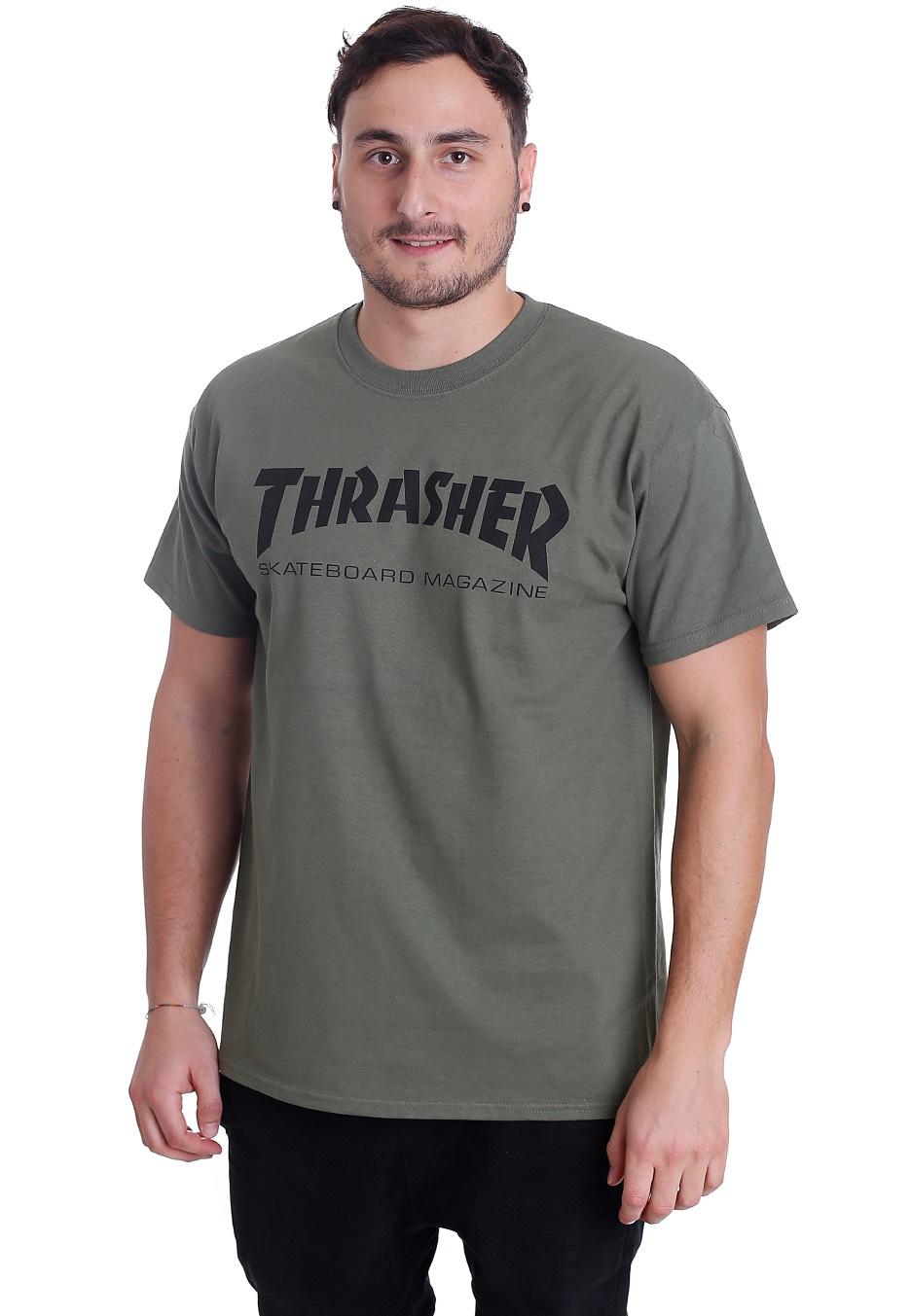 49b2c2d72eef Thrasher - Thrasher Skate-Mag Army - T-Shirt - Streetwear Shop ...