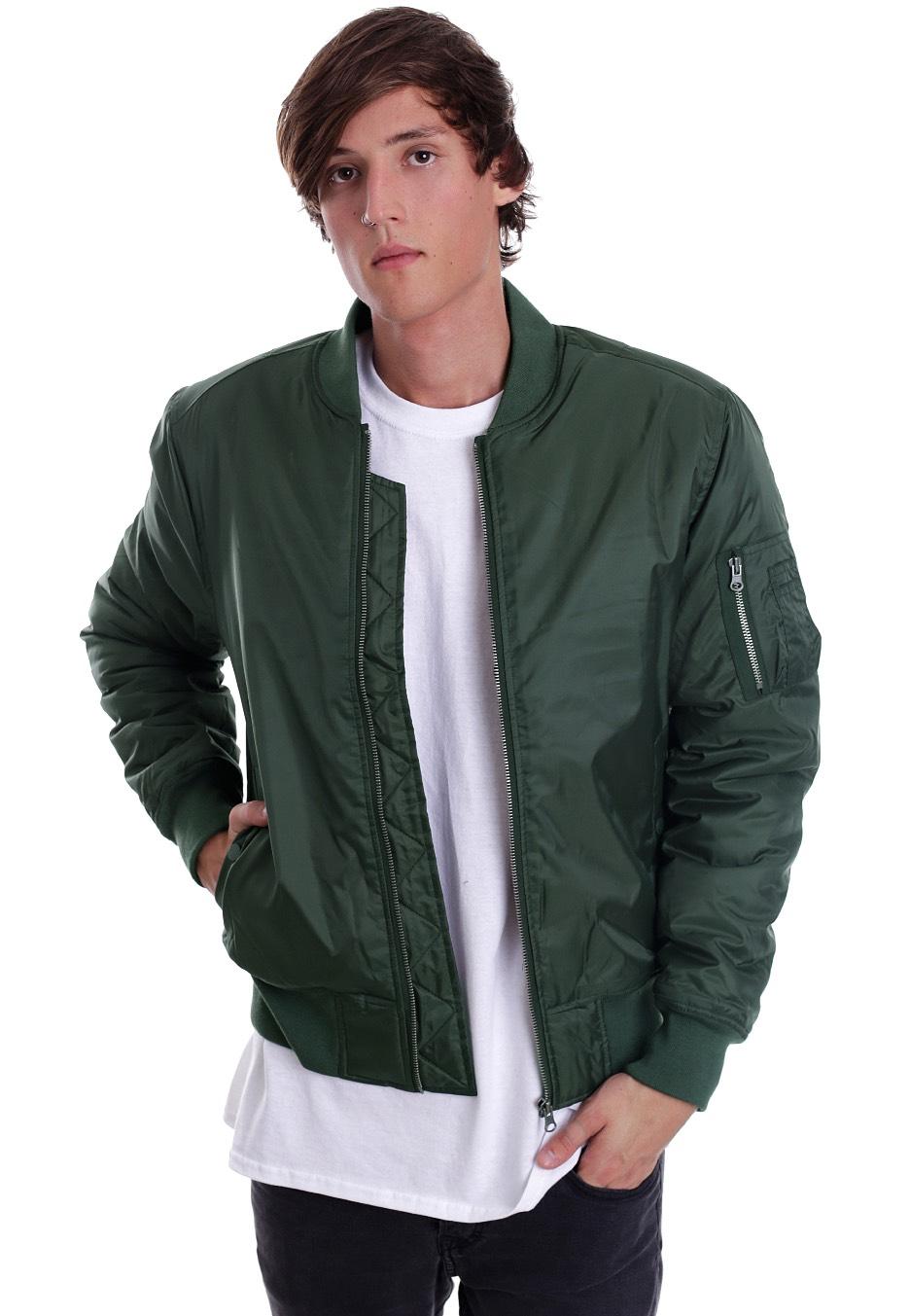 Streetwear Bomber Veste Boutique Basic Urban Olive Classics WFC4f4