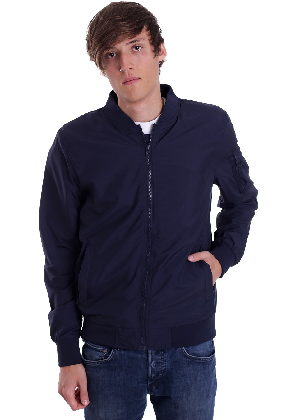 271ed0f516160 Urban Classics - Light Bomber Navy - Jacket - Streetwear Shop -  Impericon.com US