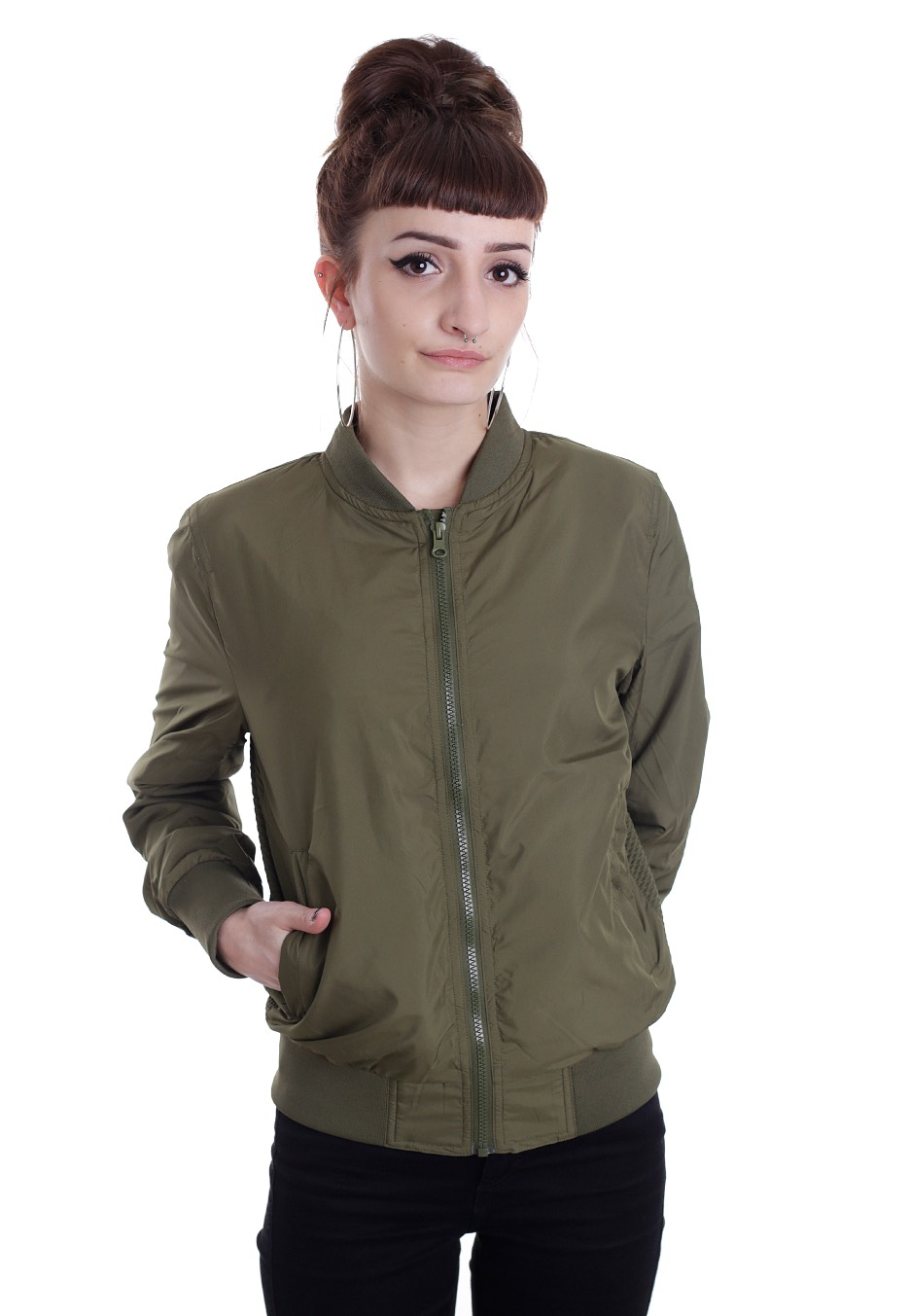 fb758d358c8f2 Urban Classics - Light Bomber Olive - Jacket - Streetwear Shop -  Impericon.com UK