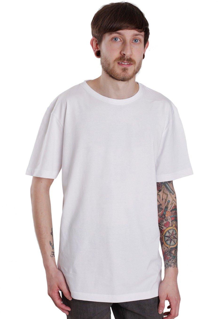 Urban classics shaped long white t shirt streetwear for Urban streetwear t shirts