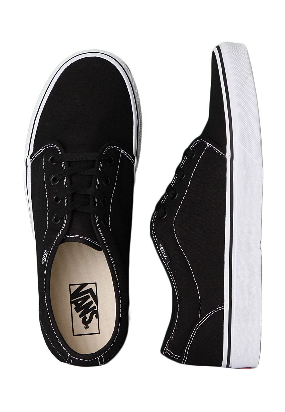 Vans - 106 Vulcanized Black White - Shoes - Impericon.com Worldwide 6f7425581