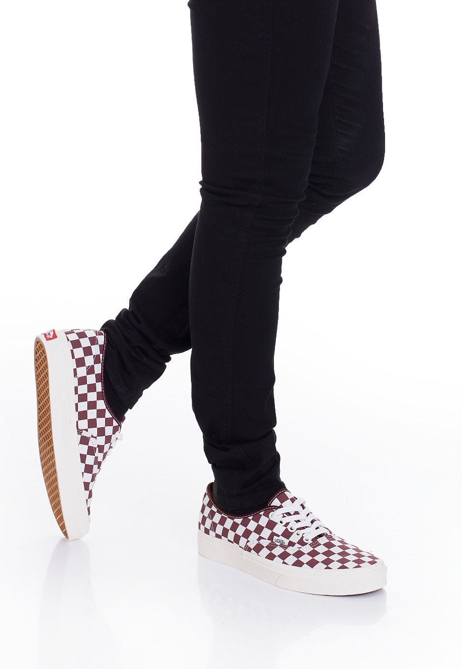 57f0d3602526a1 Vans - Authentic Checkerboard Port Royale Marshmallow - Schuhe ...
