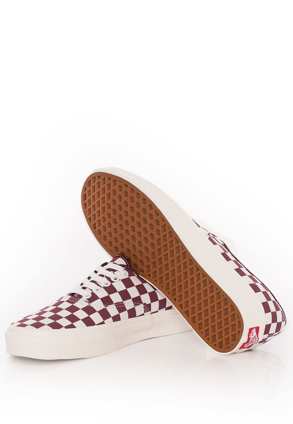 6f52530838c407 ... Vans - Authentic Checkerboard Port Royale Marshmallow - Girl Shoes ...