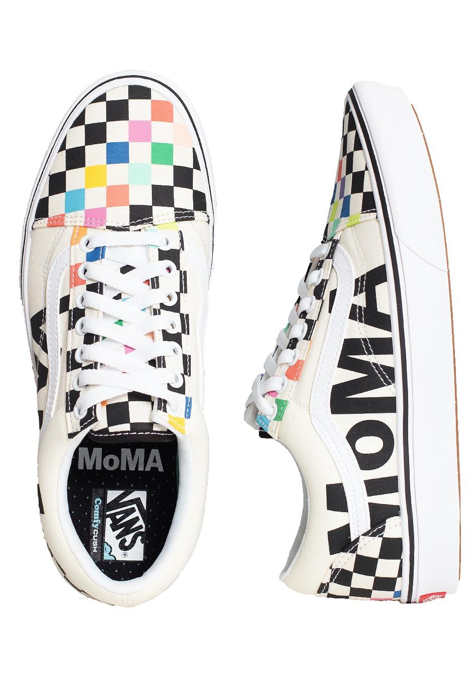 Vans - (MoMA) Comfycush Old Skool Brand White/Black - Shoes ...