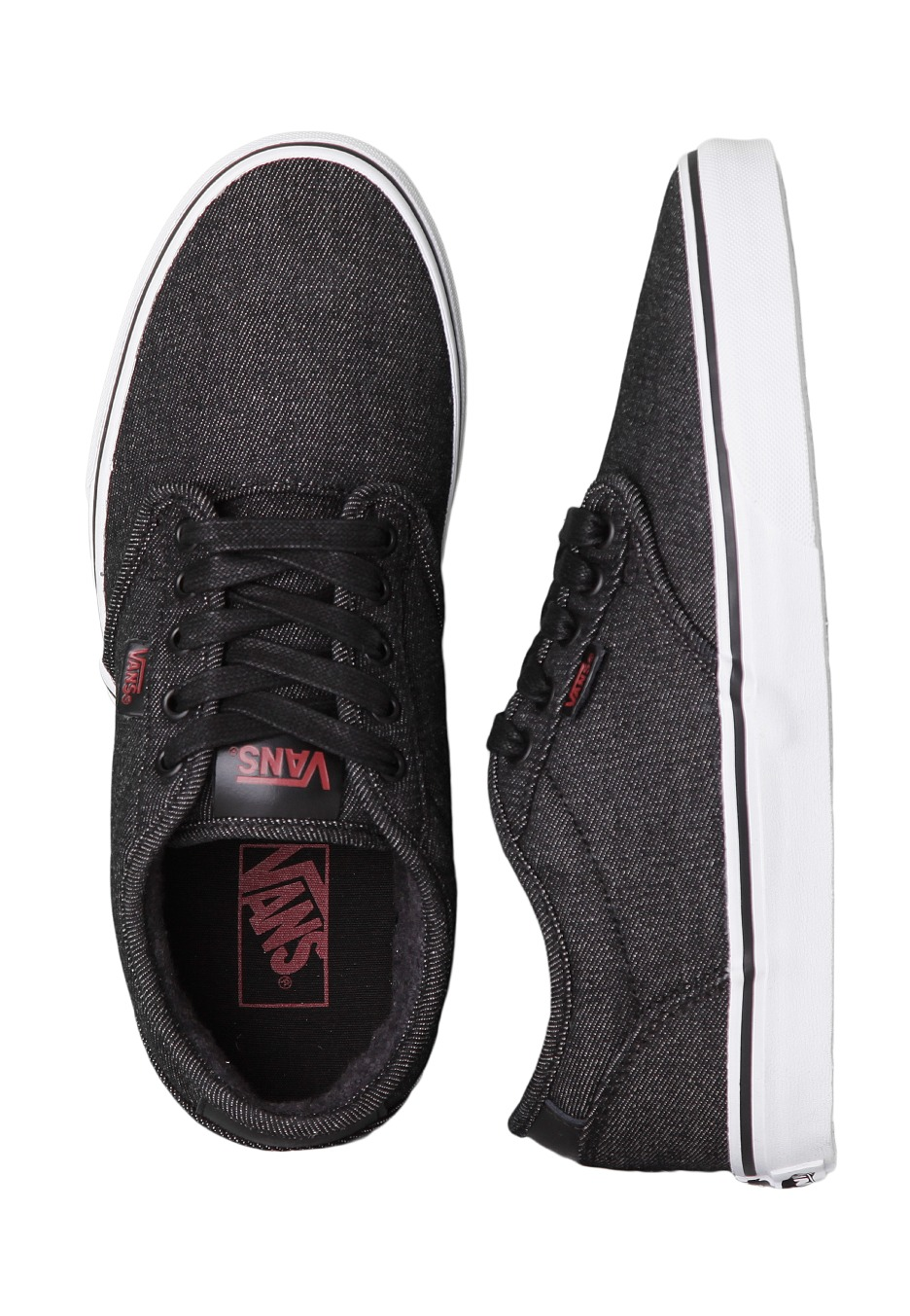 Vans - Atwood Deluxe Twill Black Black - Shoes - Impericon.com Worldwide a1b172528