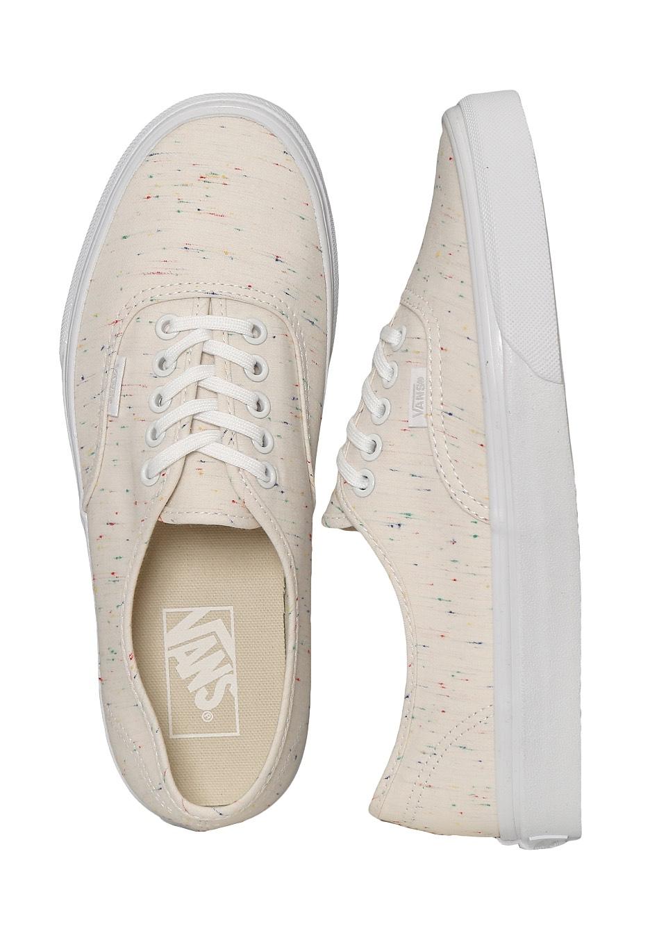 7feb47126397c1 Vans - Authentic Speckle Jersey Cream True White - Girl Shoes - Impericon.com  UK