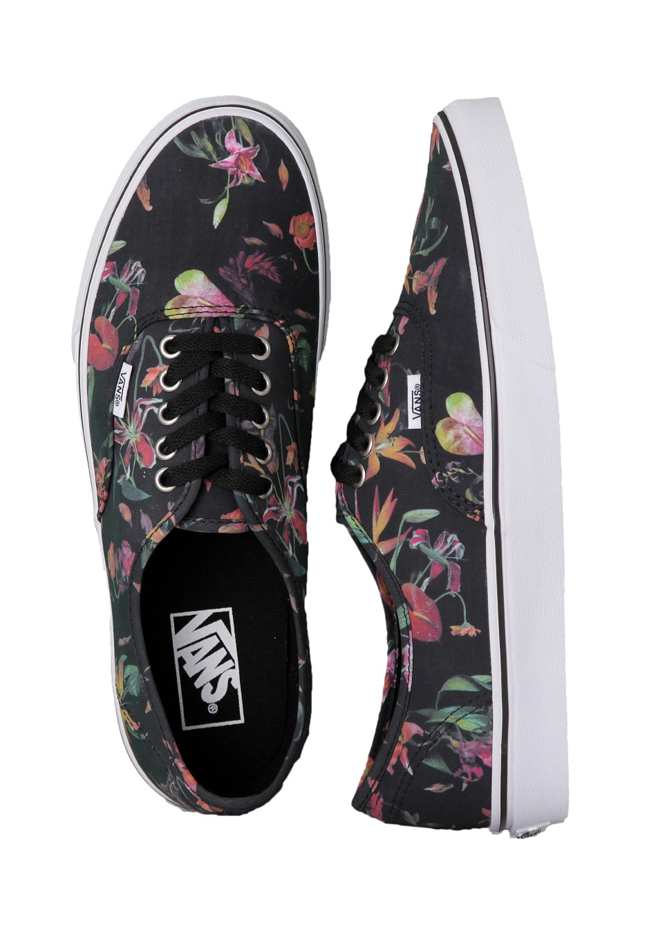 bd7fcf413051aa Vans - Authentic Black Bloom Black True White - Shoes - Impericon.com US