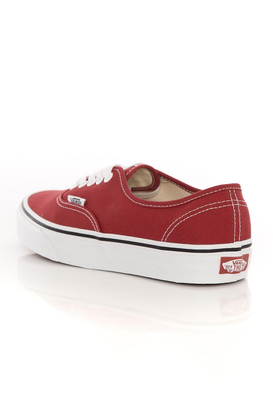 Vans - Authentic Crimson/True White