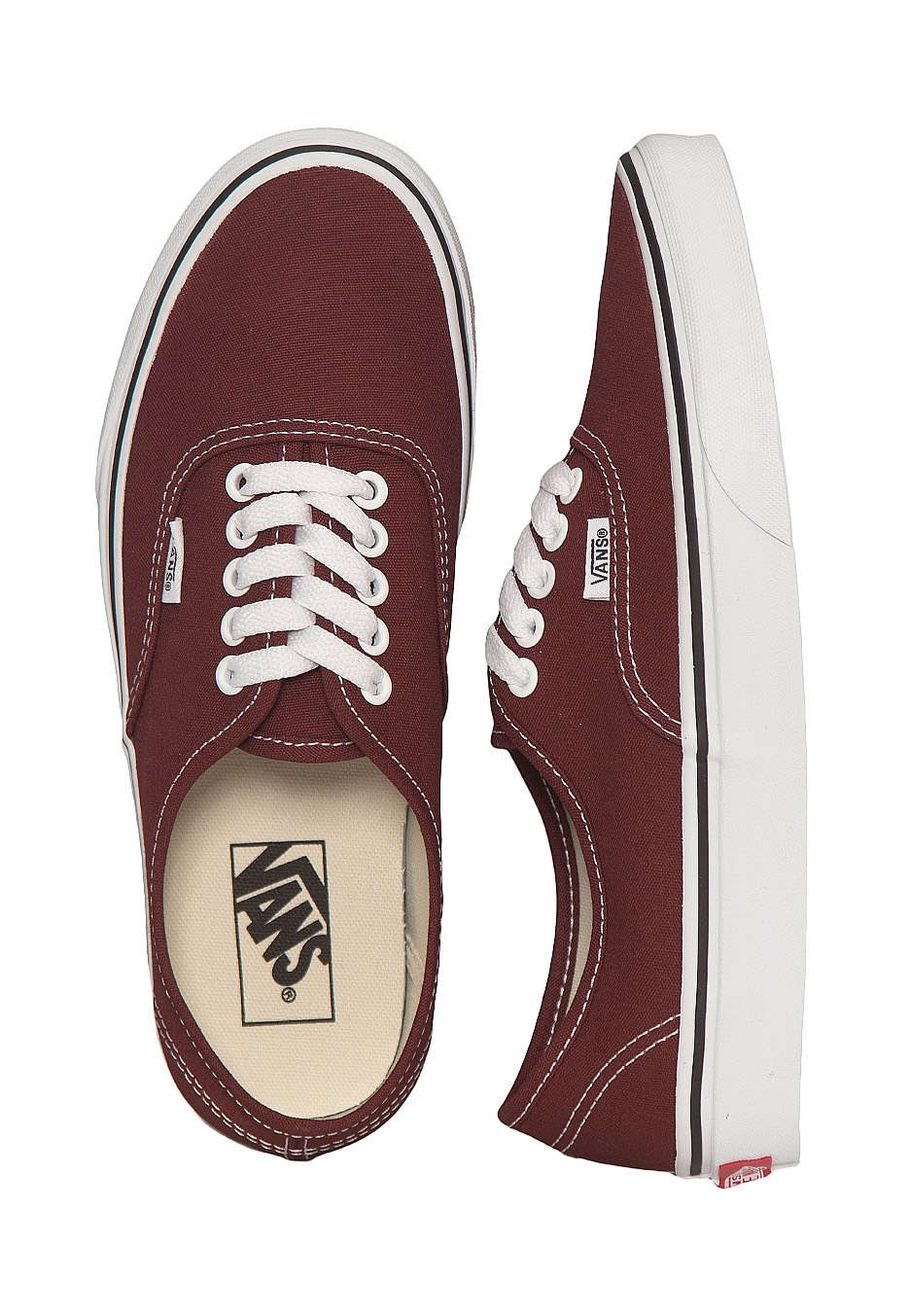 Vans - Authentic Madder Brown True White - Girl Shoes - Impericon.com  Worldwide 7c1d07629