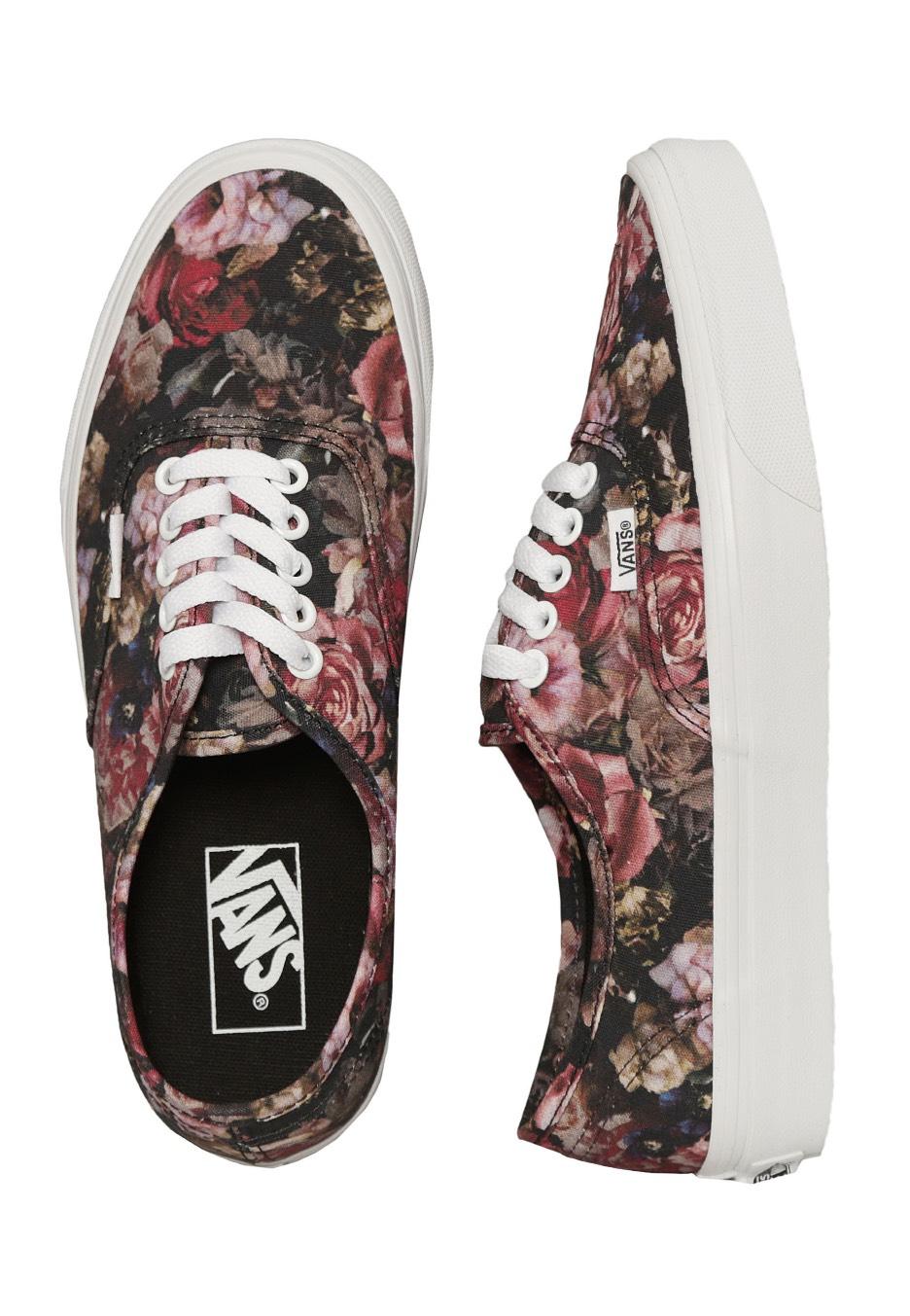 d3ad4392a3 Vans - Authentic Moody Floral Black True White - Női cipők ...