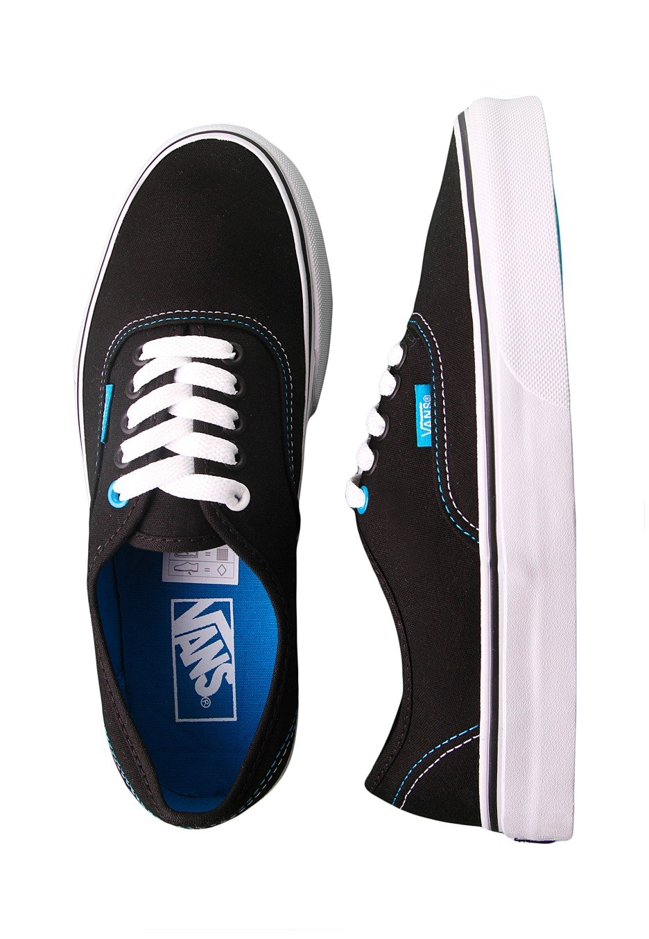 9ea485c39e77bb Vans - Authentic Pop Black Methyl Blue - Girl Shoes - Impericon.com UK