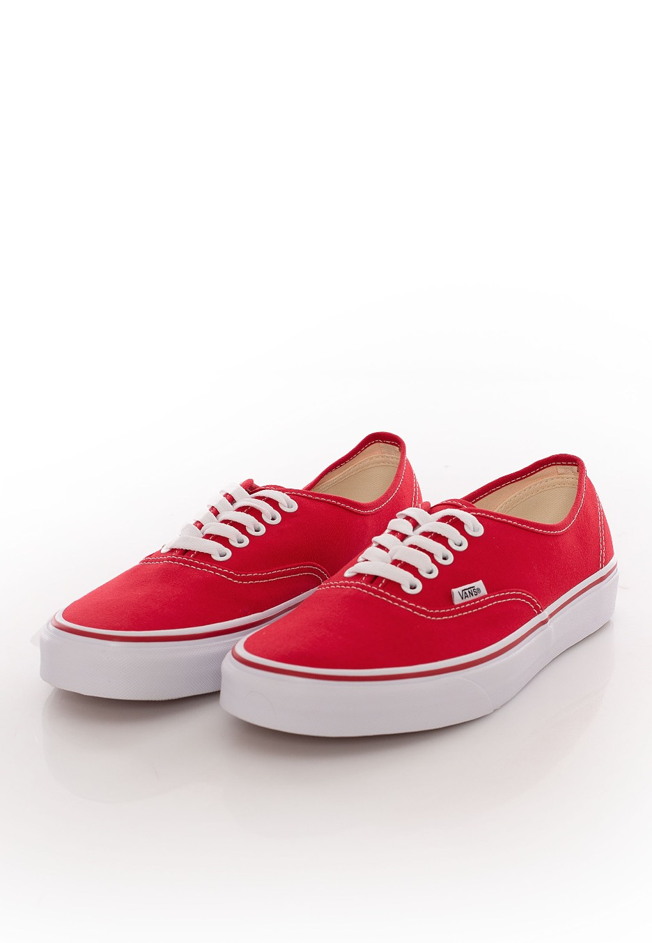 red and white vans