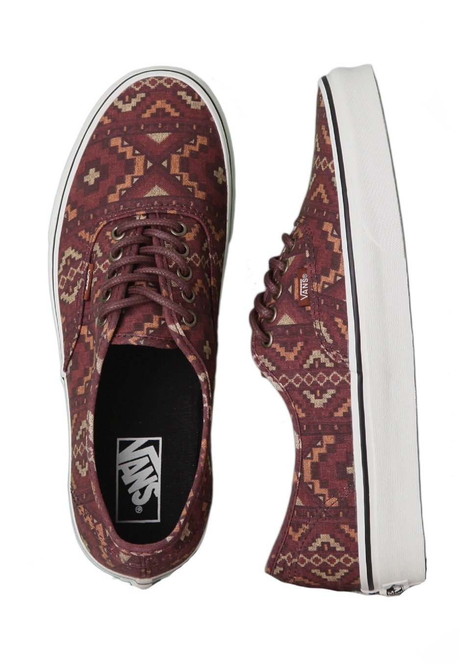 f9985c65a8e0be Vans - Authentic Tribe Rug Red Clay - Shoes - Impericon.com US