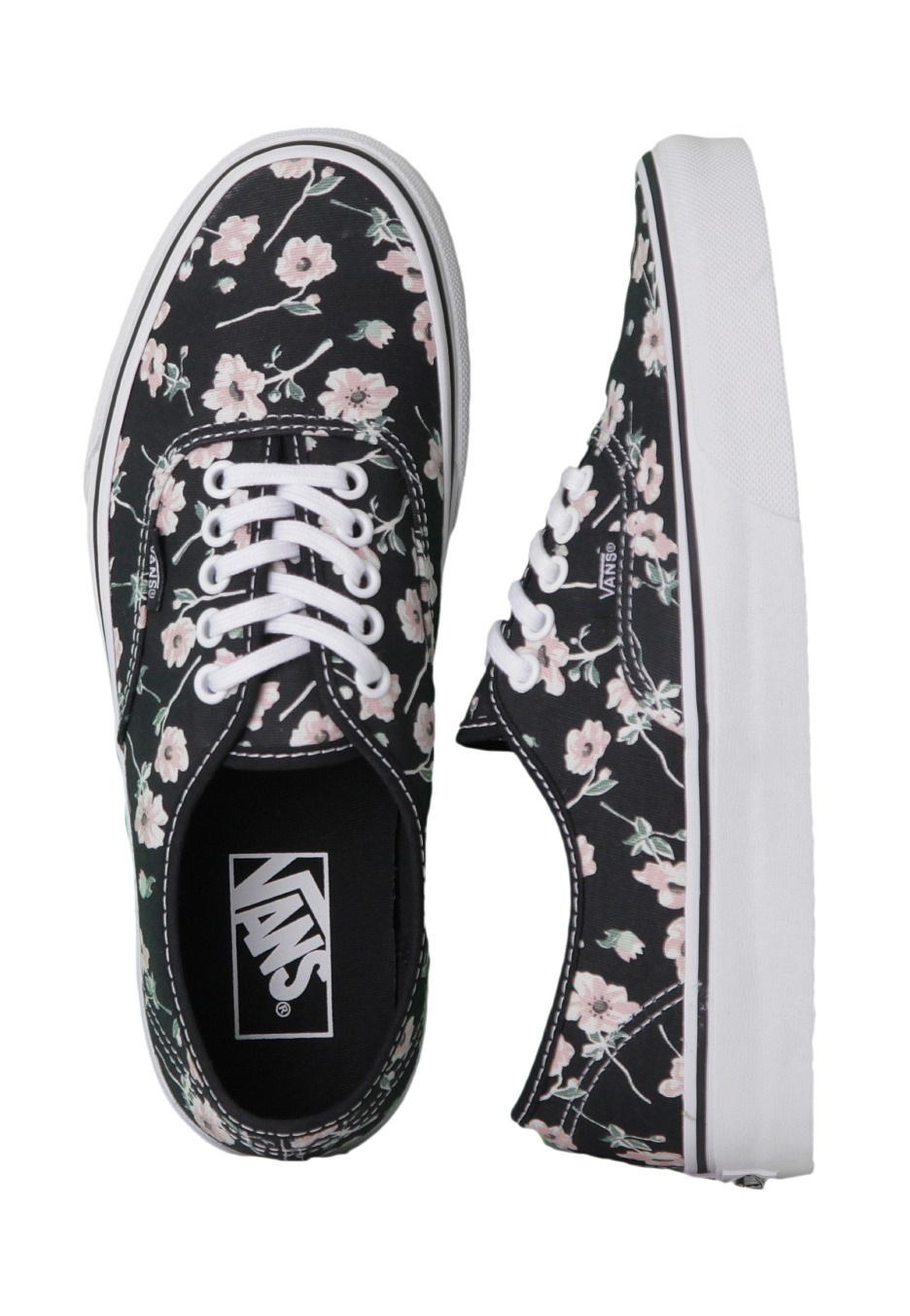 4f5f28512fcc2b Vans - Authentic Vintage Floral Blue Graphite - Girl Shoes - Impericon.com  UK