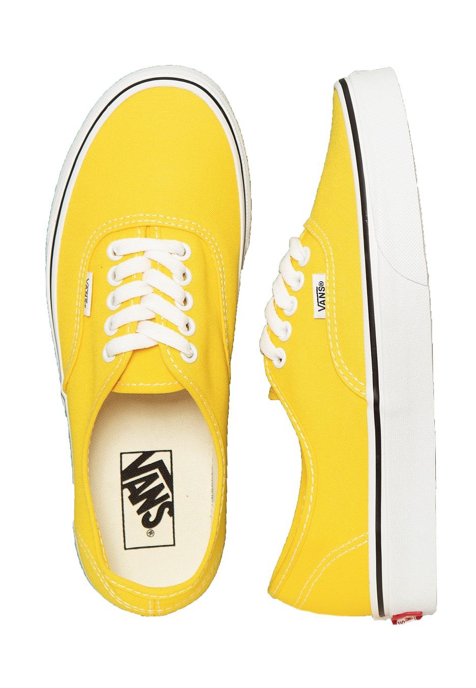 vans authentic jaune
