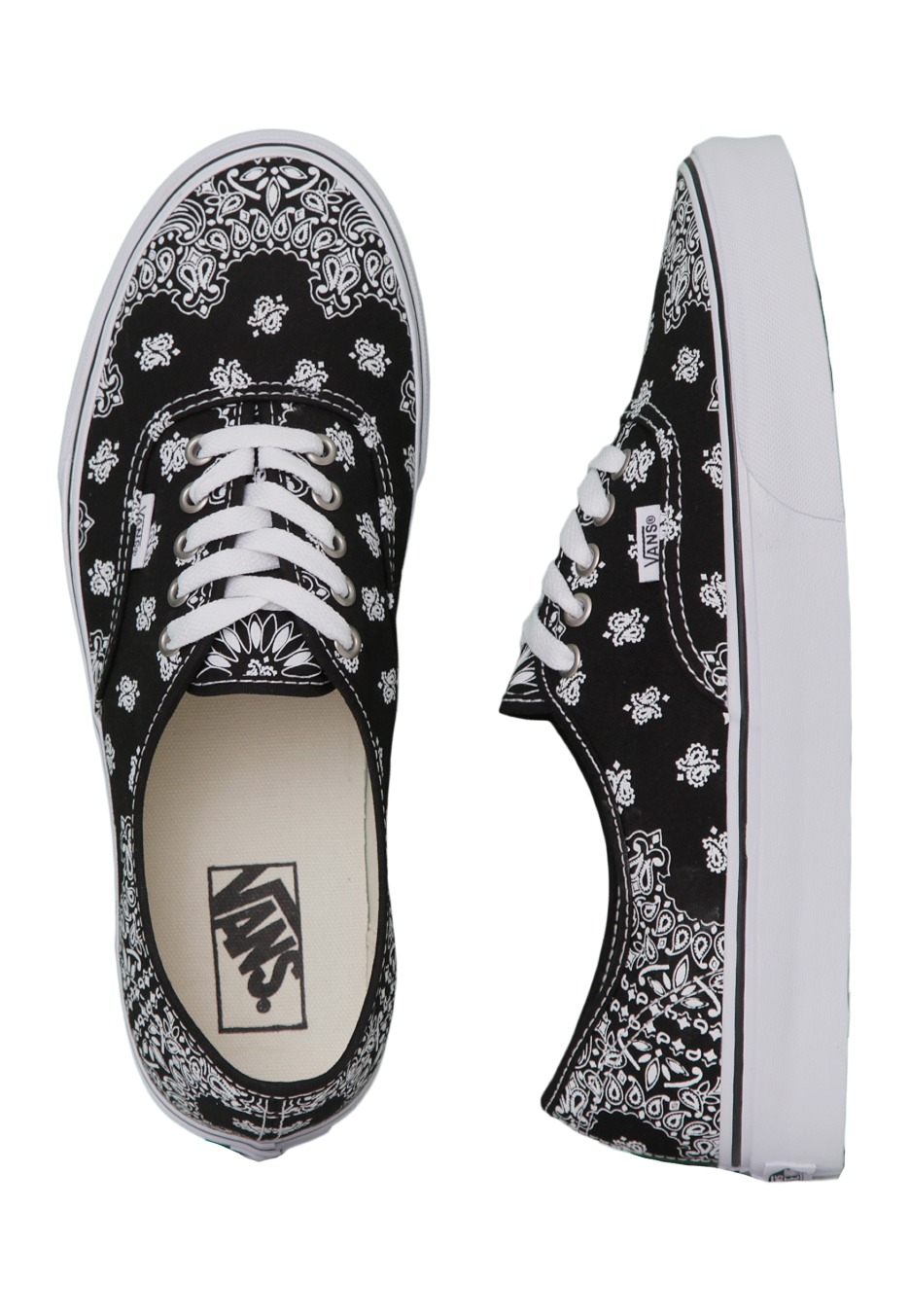 Vans - Authentic Bandana Black/True White - Shoes - Impericon.com Worldwide