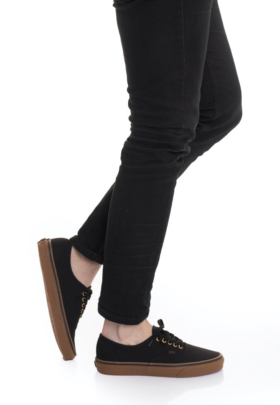 Vans - Authentic Black/Rubber - Zapatos - Impericon.com ES