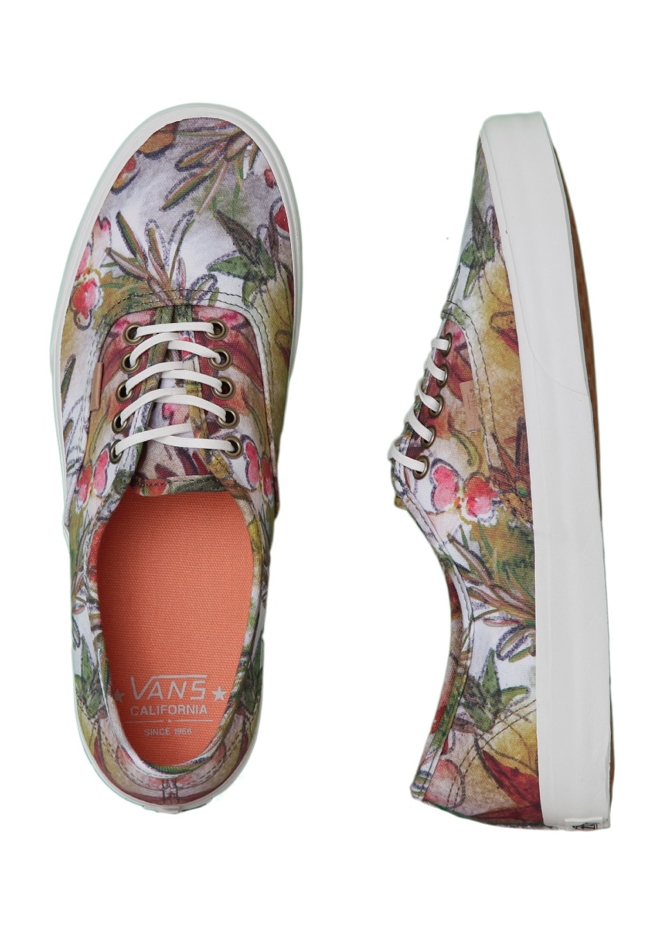 daa59b71523 Vans - Authentic CA Camo Floral Dark Olive Marshmallow - Shoes -  Impericon.com UK