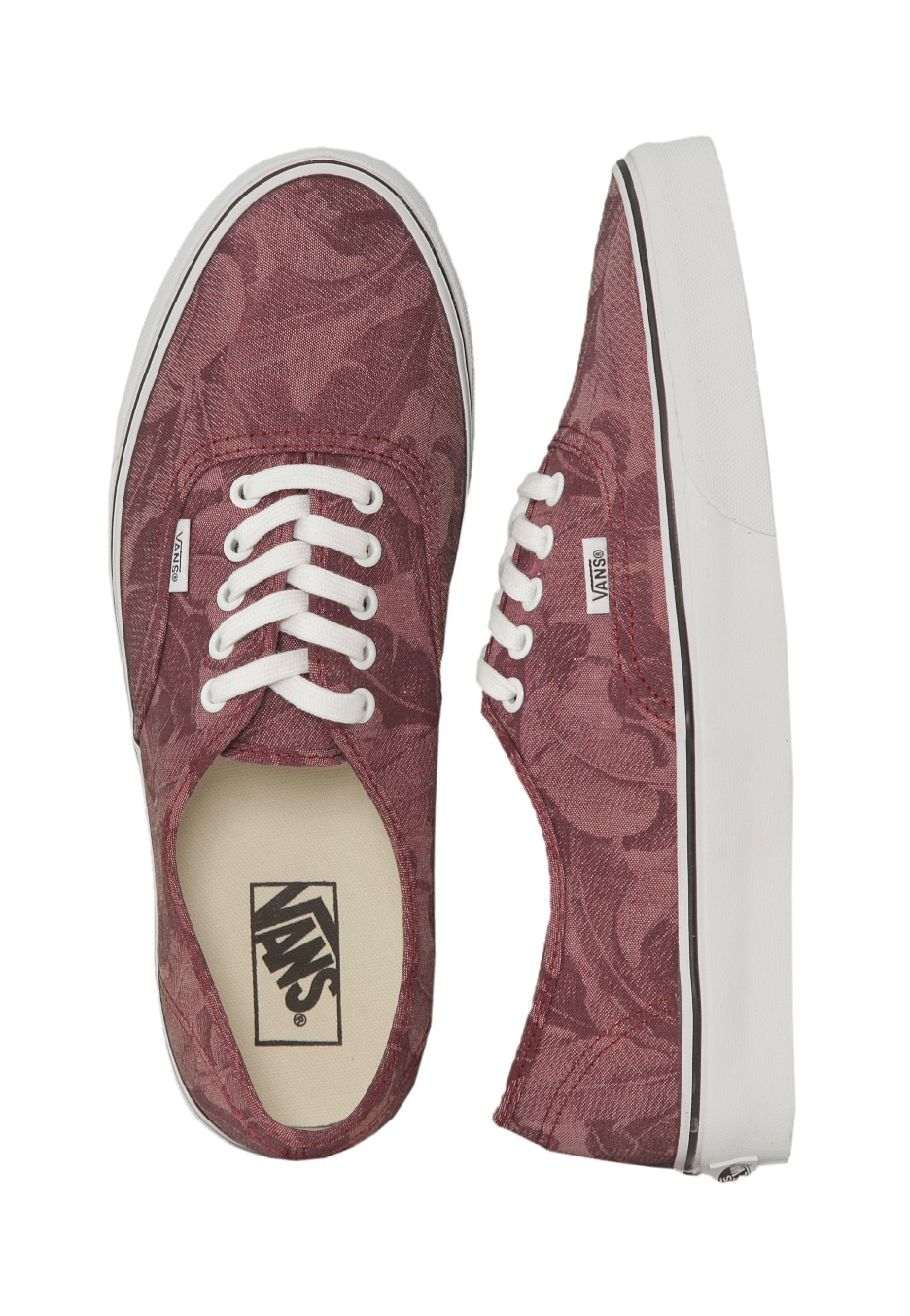 Vans - Authentic Chambray Leaves Windsor Wine - Shoes - Impericon.com  Worldwide