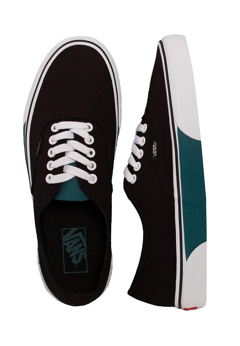 f711d5c1bcd3 Vans - Authentic Color Block Black Quetzal Green - Shoes - Impericon.com US