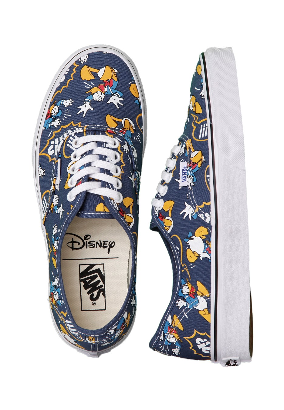 b00f9b72ca8ed8 Vans - Authentic Donald Duck Navy - Girl Shoes - Impericon.com UK